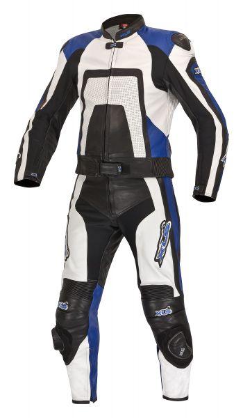 Blue Edition Lederkombi + Stiefel + Handschuhe