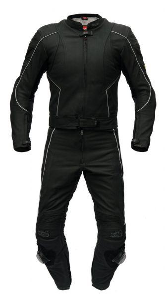 """XLS Lederkombi 2-teilig Modell """"Black Arrow"""" trendige matt schwarz Optik"""