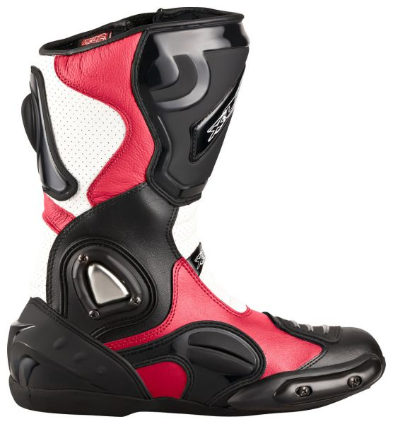 "XLS Motorradstiefel ""Race Gear"" / Racing Boots in Rot"