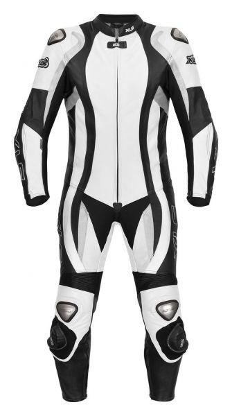Daytona Black|White Bundle Lederkombi + Stiefel + Handschuhe