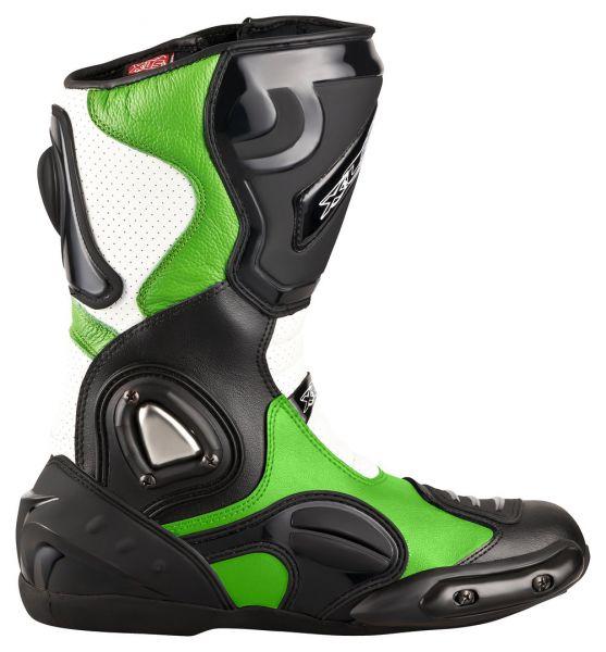 XLS Motorradstiefel / Racing Boots Grün