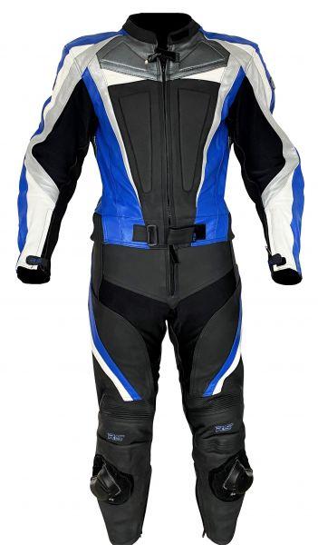 Lederkombi BLUE ARROW zweiteilig schwarz blau von XLS Gr. 46