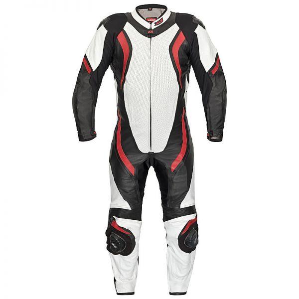 Lederkombi Racing Einteiler von XLS schwarz rot weiß einteilig