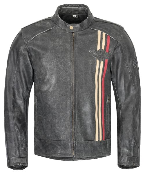 Herren Motorradjacke schwarz Classic Urban Lederjacke