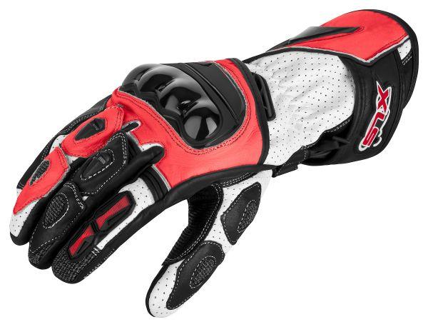 Motorradhandschuhe von XLS Race Line Rot
