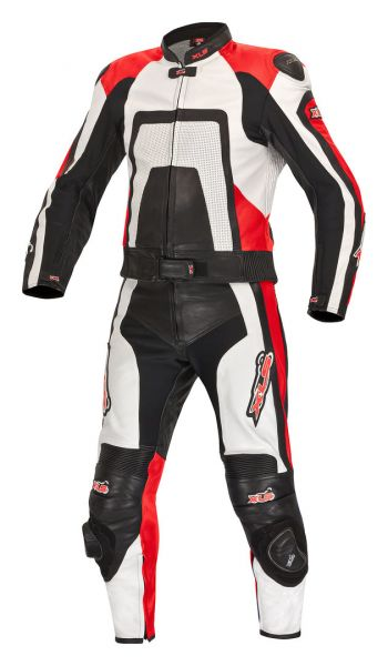 Red Edition Lederkombi + Stiefel + Handschuhe