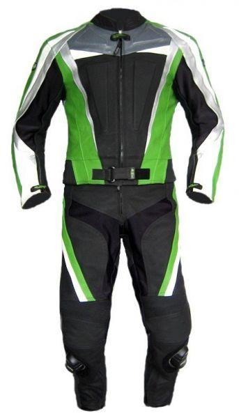 Lederkombi GREEN ARROW zweiteilig schwarz grün von XLS