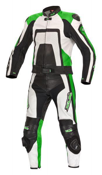 Green Edition Lederkombi + Stiefel + Handschuhe