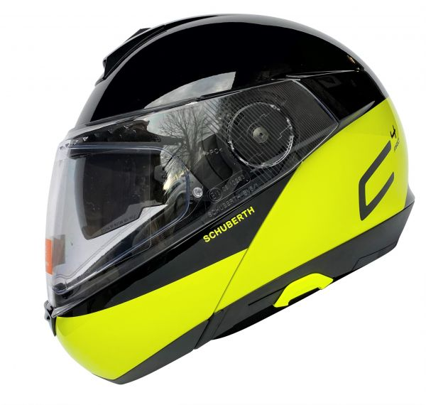 Schuberth C4 Pro Swipe Yellow Klapphelm