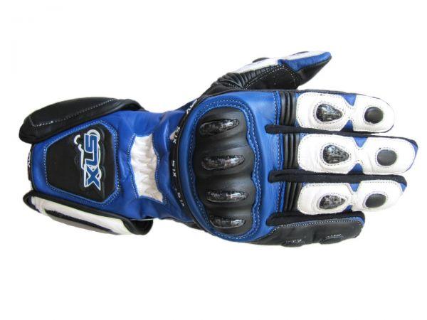 XLS Racing Line Motorradhandschuhe aus Leder mit Protektoren