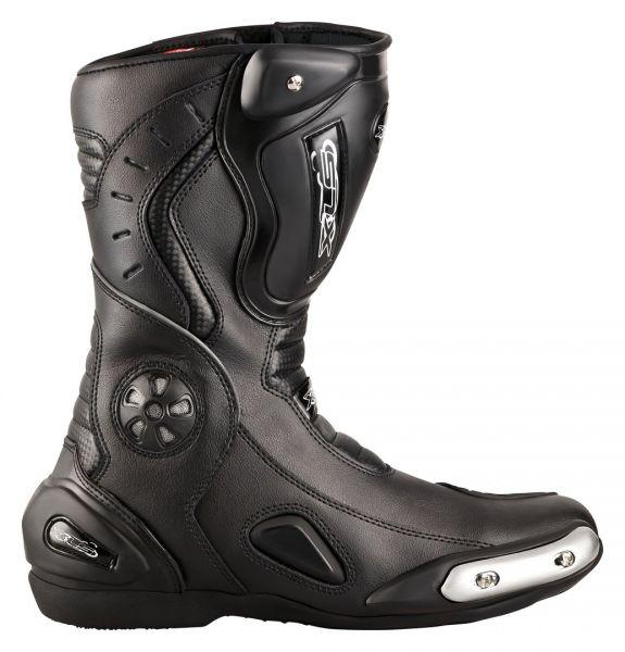 """XLS Motorradstiefel """"Race Gear"""" / Racing Boots Schwarz"""